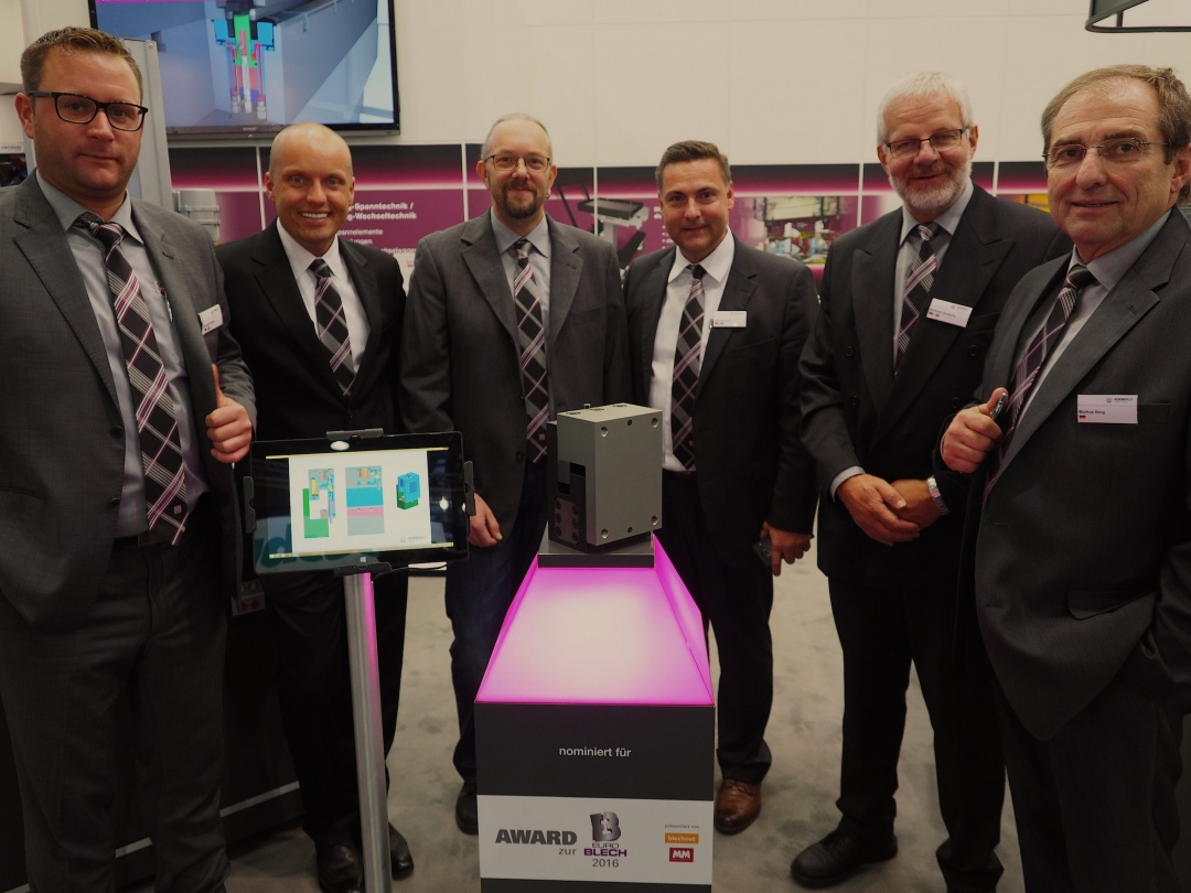 Quick die clamping system from ROEMHELD wins Euroblech award 2016