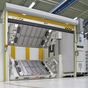 Magnetic attraction of Roemheld die clamping